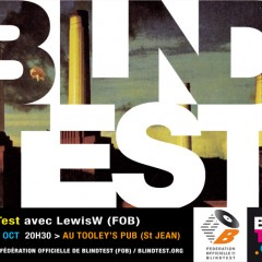 Mardi 4 oct. blindtest au Tooley's Pub, avec LewisW.