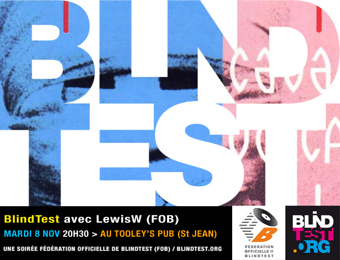mardi 8 nov soir e blindtest lewisw au tooley 39 s pub. Black Bedroom Furniture Sets. Home Design Ideas