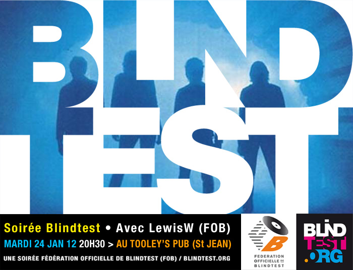mardi 24 jan 2012 soir e blindtest lewisw au tooley 39 s pub. Black Bedroom Furniture Sets. Home Design Ideas